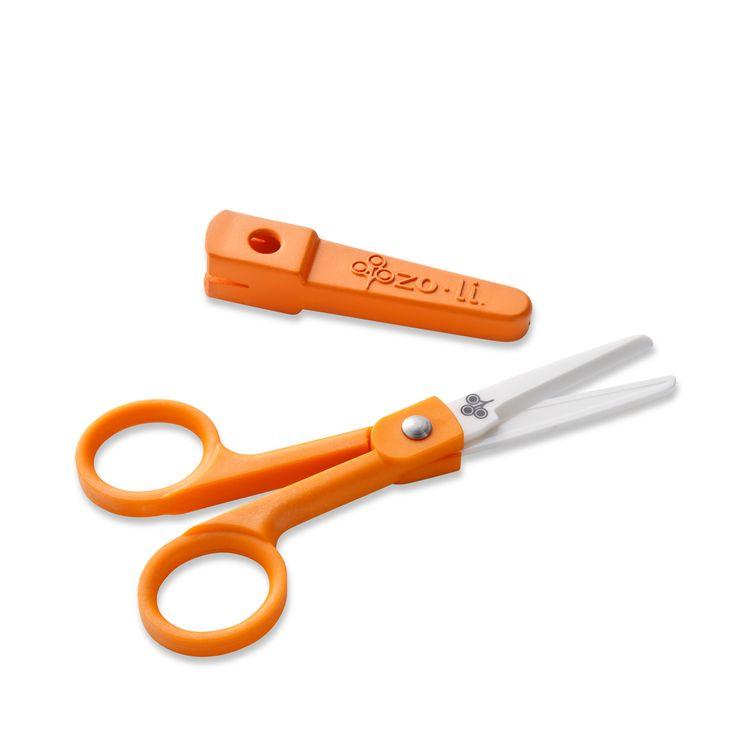Snip Ceramic Food Scissors Orange Pasta Grapes
