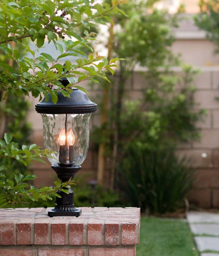 oriental outdoor lighting. 29 Inchh Carriage House Vivex 3-Light Outdoor Pole/Post Mount Oriental Bronze Lighting