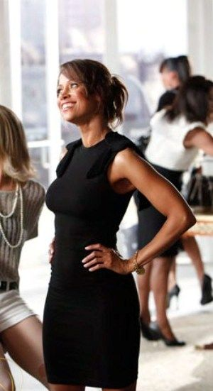 "Stacey Dash in black sleeveless dress on ""Single Ladies"""