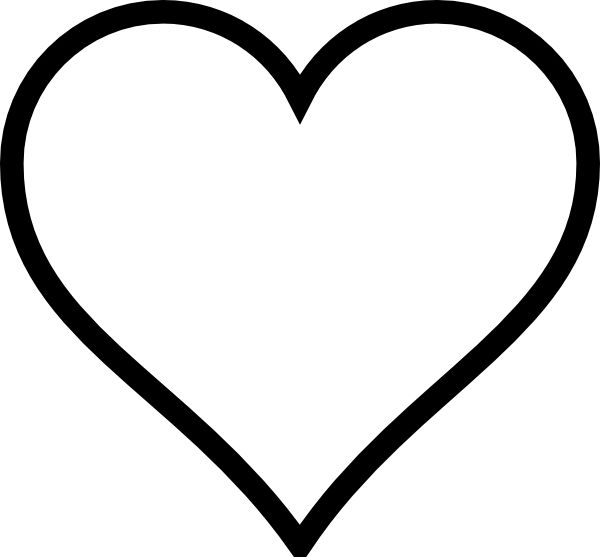 clip art black and white | Black And White Heart clip art ...