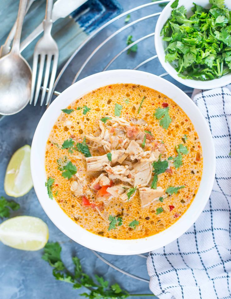 This Low Carb Slow Cooker Mexican Chicken Soup is full of Mexican flavors. This delicious soup has everything that you would need to comfort yourself in winter.