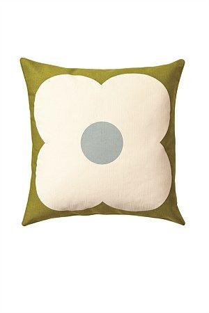 Orla Kiely Cushion Giant Abacus Olive/Duckegg