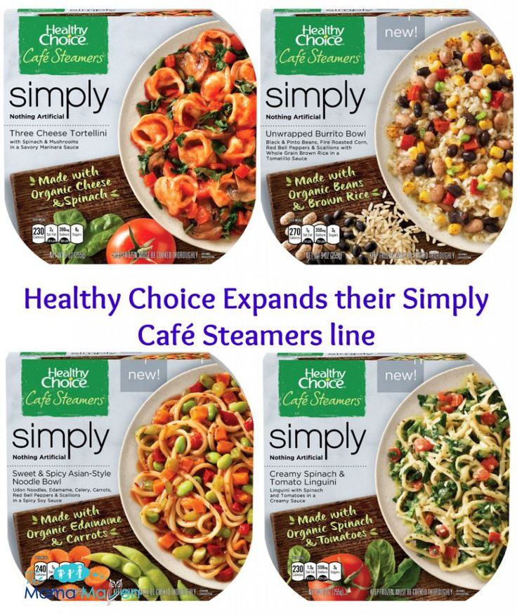 Make the Better Lunch Choice: Healthy Choice Simply Café Steamers, Made with Organic Ingredients!