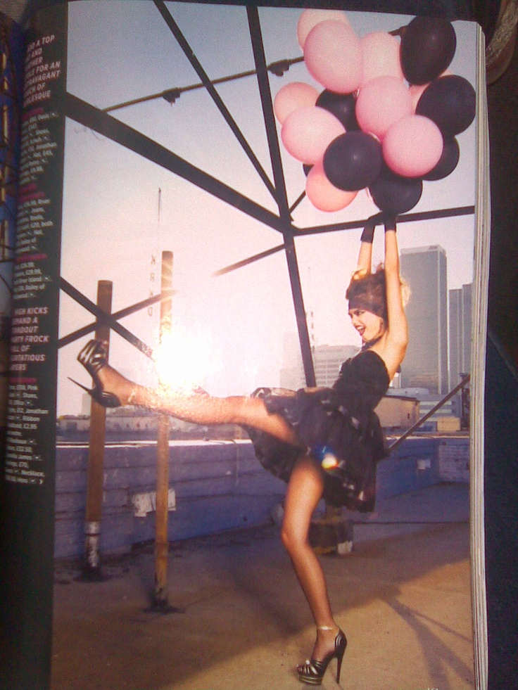 Another modeling inspiration for balloons shoot, getting 'carried' away.