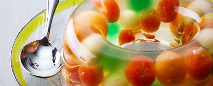 aspic-di-melone-e-anguria-allo-spumante ricetta