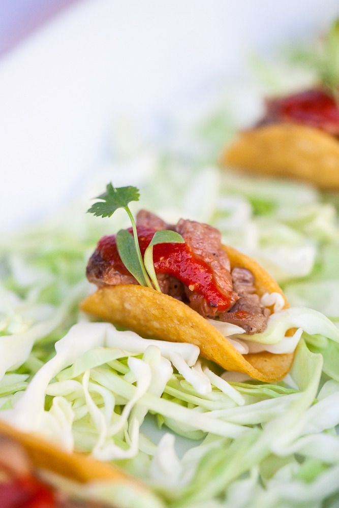 Mini Carne Asada Taco from Taste Catering & Event Planning | Wedding Food | hors d'oeuvres | On SMP: http://www.stylemepretty.com/little-black-book-blog/2013/06/26/mill-valley-wedding-from-taste-catering-a-spotlight