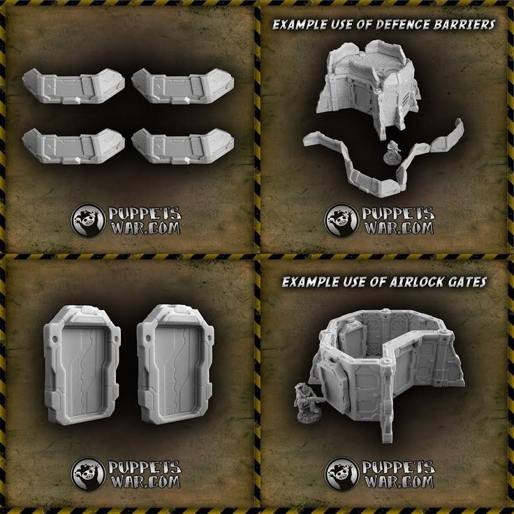 Two new releases: Defence Barriers https://puppetswar.eu/product.php?id_product=689 Airlock Gates https://puppetswar.eu/product.php?id_product=688  Do You remember that our resin terrain models are currently 10% cheaper? https://puppetswar.eu/category.php?id_category=154