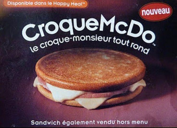 Le Croque McDo -- France & Belgium