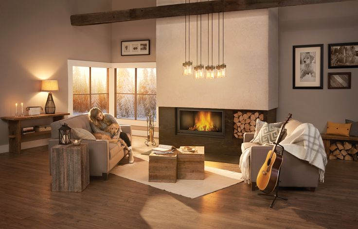 The Napoleon High Country™ 7000 Wood Fireplace is inspired by European clean face design and features a huge viewing area. An exclusive counterbalanced ZERO GRAVITY™ door system operates the screen and heat radiating ceramic glass independently, allowing the fire to be viewed through either the glass, screen or both