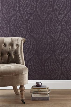 Buy Waves Plum Wallpaper From The Next UK Online Shop Concept Candie Interiors Now