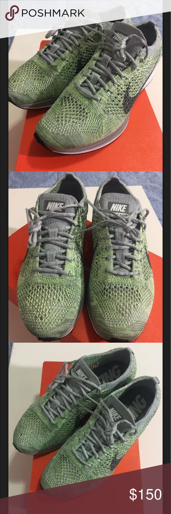 Nike Flyknit Racer Macaron Pistachio Brand New/ Never Used. Nike Flyknit Racer Macaron Pistachio. Size: women's 6.5/ men 5.0. Box included. No trades. Nike Shoes Athletic Shoes