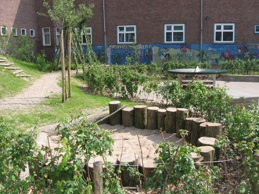 groen schoolplein de zonnehoek mei 2009