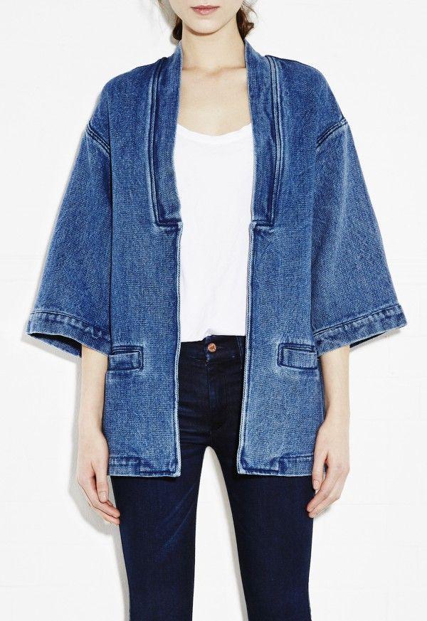 Kimono Jacket - Indigo denim kimono jacket - Light Indigo - MiH