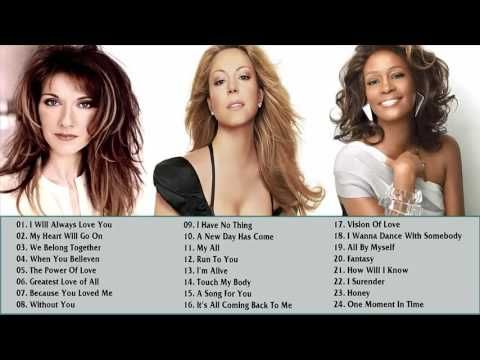 Celine Dion, Mariah Carey, Whitney Houston : Best Songs - Collection