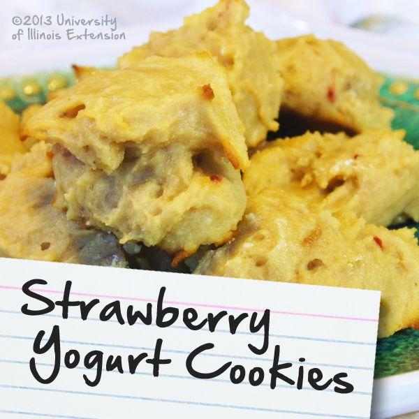 Recipes for Diabetes: Strawberry Yogurt Cookies