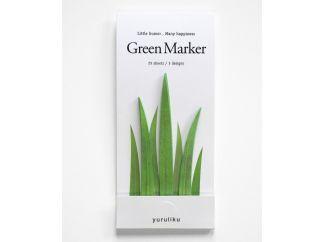 green marker - grassprietbladwijzers