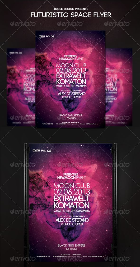 Futuristic Space Flyer Template PSD | Buy and Download: http://graphicriver.net/item/futuristic-space-flyer/5320170?ref=ksioks