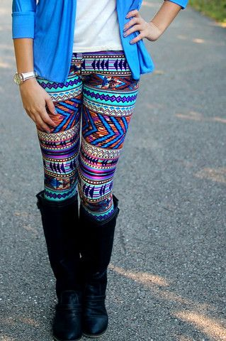 Love these legging...White longer tunic though...    spring 2014