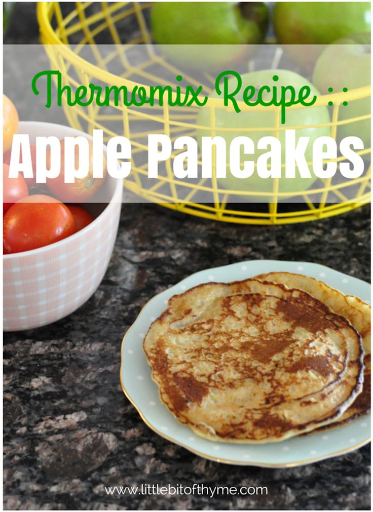 Do your kids cook with Thermomix? Share the inspiration: Apple Pancakes #recipe