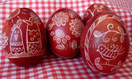 украшение пасхальных яиц в технике драпанка... Picture tutorial for making!
