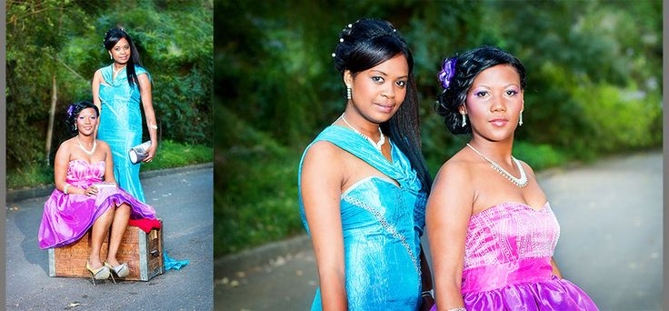 Two friends posing for their matric farewell photos.  Gorgeous dresses!  Gorgeous girls! Photography by Alida van der Walt Photographer:  @ Great Brak River in Garden Route South Africa.  www.alidavanderwalt.co.za