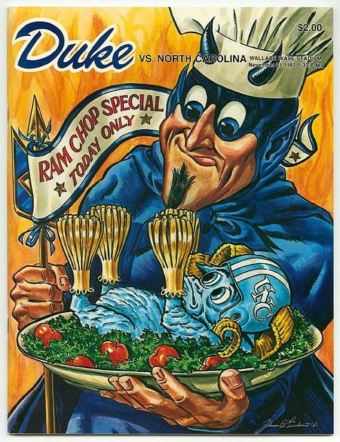 Duke vs. UNC, 1981 Nov 21 by Duke Yearlook, via Flickr