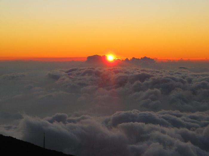 Por do Sol a 3000m de altitude.