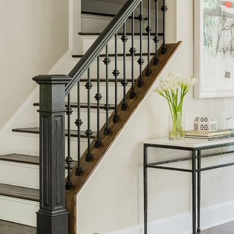 1000 images about railings on pinterest railing design wrought iron stair railing and iron - Modelos de escaleras interiores ...