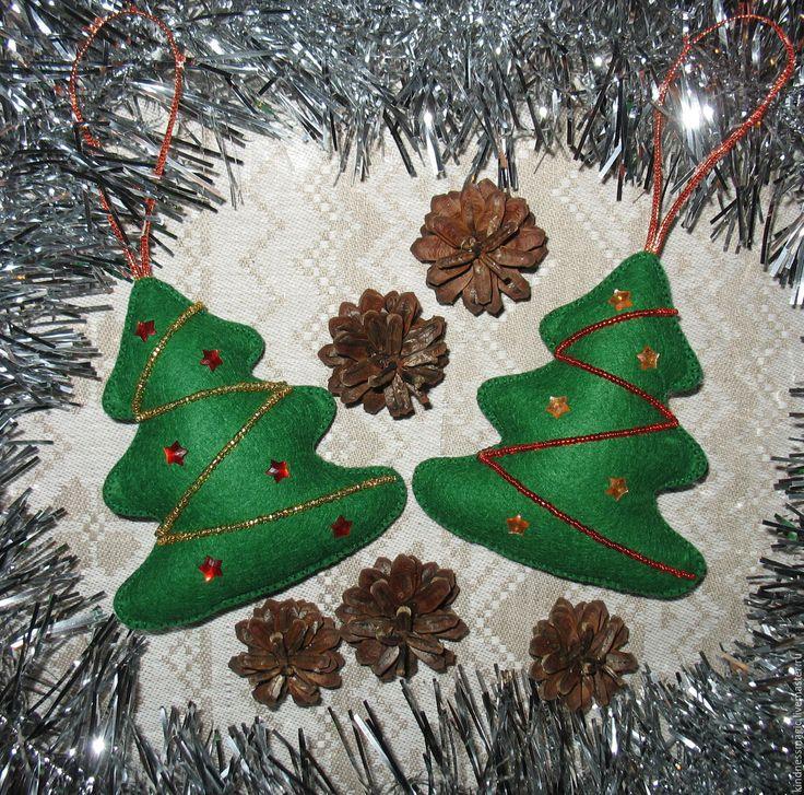 Купить Новогоднее украшение Елки зеленые) часть 1 - зеленый, елка, елочка, елки, елочки