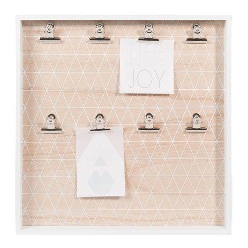 Selbermachen: Brett mit Klemmen ...Fotopinnwand GRAPHIC PASTEL, 40 x 40cm, weiß