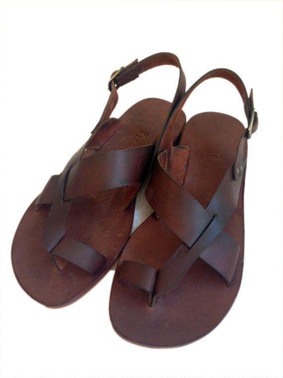 AIAS Toe Thong Sling Back Leather Sandal Handmade par BODRUMSANDALS