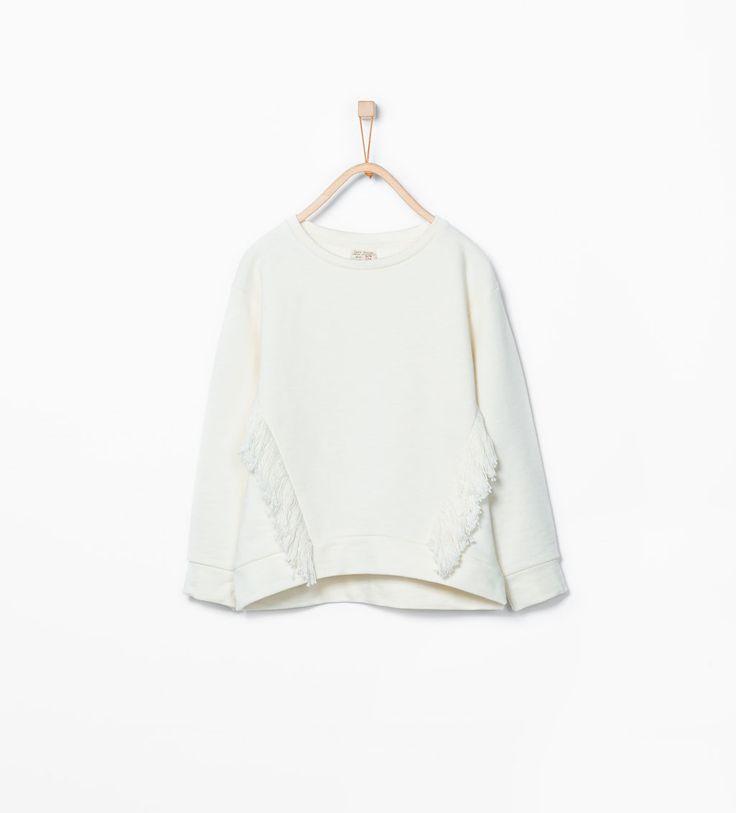 Image 1 de Sweat avec franges rapportées de Zara