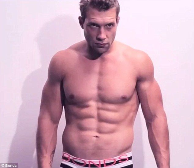 Incredible Bulk! Jai Courtney once again flaunts his incredible physique in a behind-the-scenes clip from a recent Bonds shoot