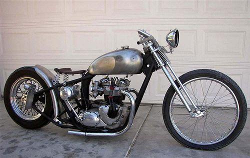 Triumph   Bobber Inspiration - Bobbers and Custom Motorcycles September 2014
