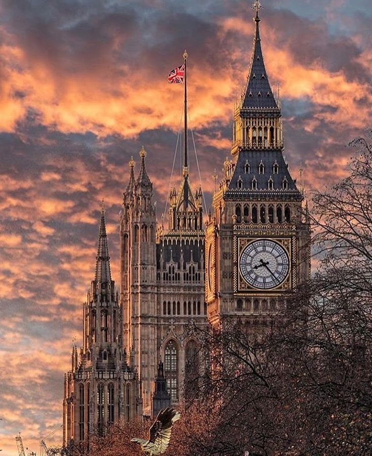Big Ben at sunset, London, England, UK