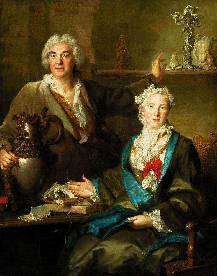 NICOLAS DE LARGILLIERE. Thomas Germain and Anne-Denise Gauchelet. 1736.