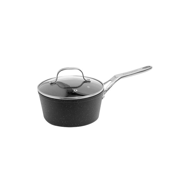 The Rock by Starfrit Nonstick 2-qt. Covered Saucepan, Black
