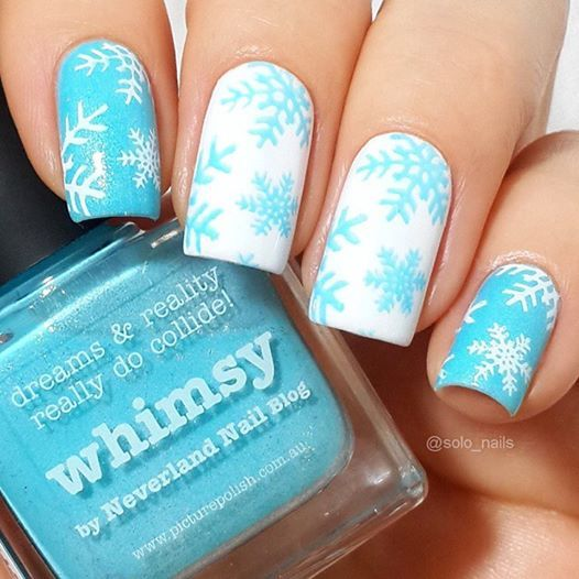 piCture pOlish 'Whimy + Bright White' snowflake nails by Solo Nails WOW shop on-line: www.picturepolish.com.au