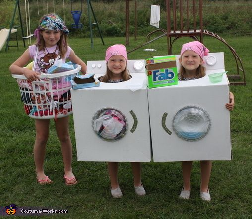 Dirty Clothes, Dryer and Washing Machine Homemade Costumes