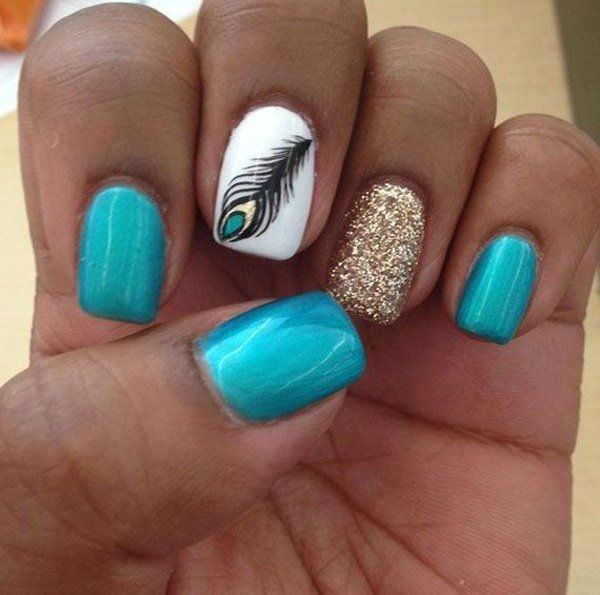 40+ Examples of Feather Nail Art - Best 25+ Feather Nails Ideas On Pinterest Feather Nail Art, Nail