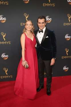 Ty Burrell and Holly Burrell attend the 68th Annual Primetime Emmy Awards at…