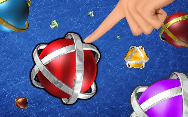 Human finger is pushing nano ball