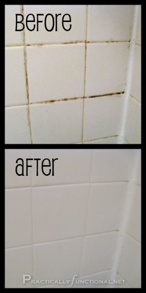 How to Clean Grout at Home  All one needs is a brush and some baking soda and bleach. Mix the two ingredients to form a thick paste and then apply it onto the grout for 5-10 minutes. In no time at all, the grout will be removed with the aid of gentle scrubbing.