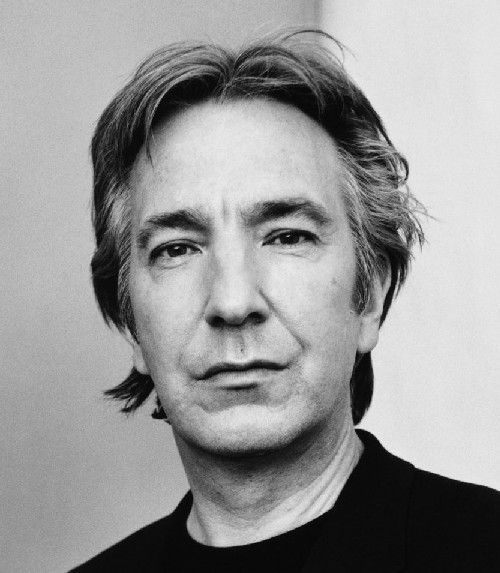 "Alan Rickman our lives are enriched by the many wonderful roles he has played. Every girl that I know could use a 'Christopher Brandon' in her life""."