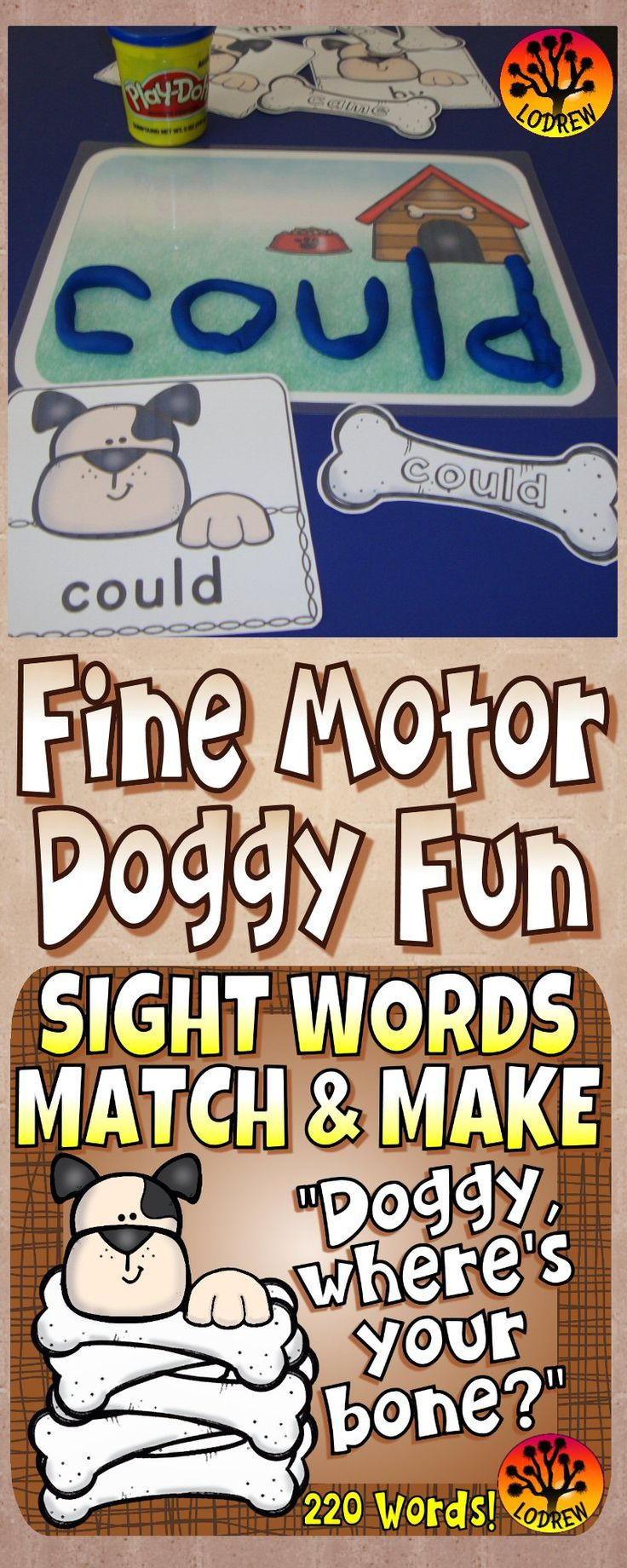 111 pages of sight word centers featuring all 220 Dolch sight words. Activities include sight word recognition, spelling, fine motor, sight word activities, pet centers, playdough mats, reading strategies, visual discrimination, letter matching, and more. For kindergarten, preschool, first grade, primary, SPED, child care, homeschool, or any early childhood setting.