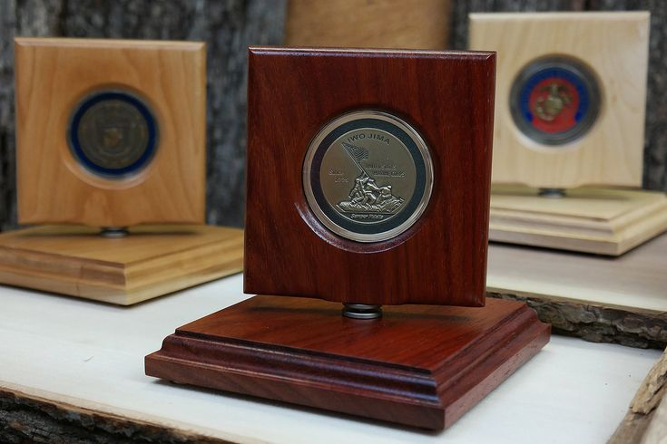 Coin Stand, Military Challenge Coin Display, Military Gifts, Display Case, Handmade out of exotic woods by CoinDisplays on Etsy