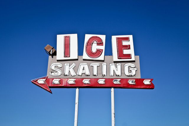 Ontario Ice Skating Center via Flickr (signage & typography)