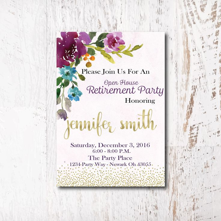 The  Best Retirement Party Invitations Ideas On