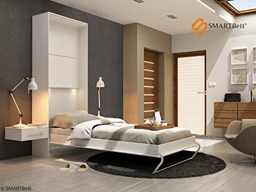 641eur Schrankbett SMARTBett Hochkantbett Gästebett 90cm Vertikal Weiß: Amazon.de: Küche & Haushalt
