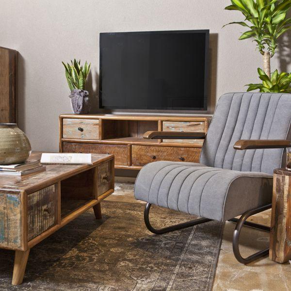 Vintage TV Möbel Lowboard Mit 4 Schubladen Auswahl: · 1 X Vintage TV Möbel  Lowboard